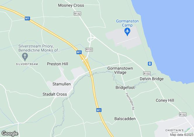 Map for Stamullen Road, Gormanston, Meath