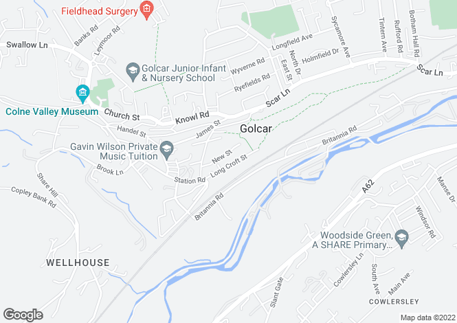 Map for Longcroft Street, Huddersfield