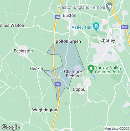 Map of property in Charnock Richard