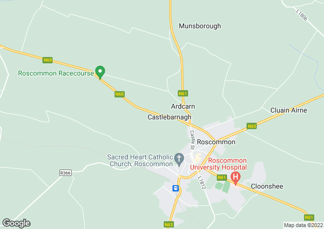 Map for 60 Castle Manor, Roscommon, Co. Roscommon