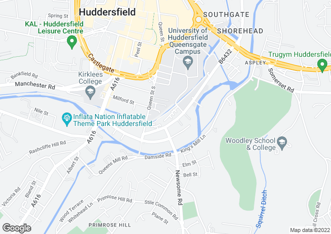 Map for The Melting Point, Firth Street, Huddersfield, HD1