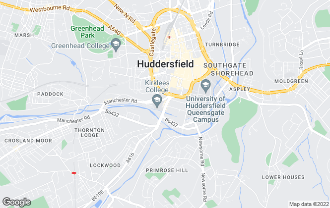 Map for Property Rentals, Huddersfield