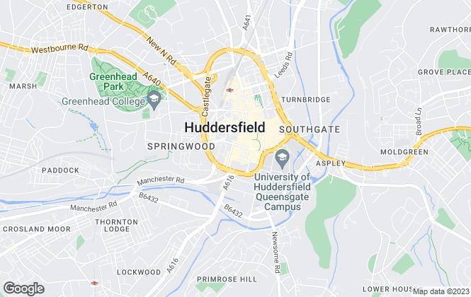 Map for Hunters, Elland Covering Huddersfield