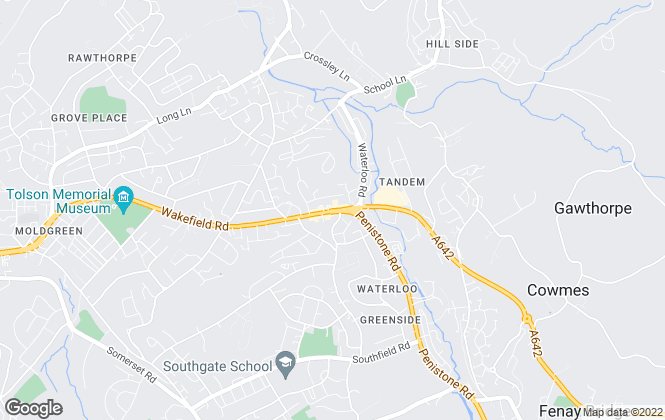 Map for Cornerstone Estate Agents, Huddersfield