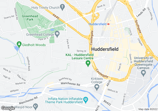 Map for Cecil Street, Springwood, HUDDERSFIELD