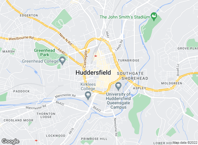 Map for Whitworths, Huddersfield