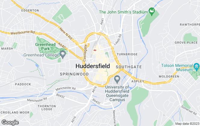 Map for Vanilla Lettings, Huddersfield