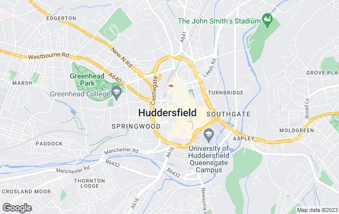 Map for Whitegates, Huddersfield