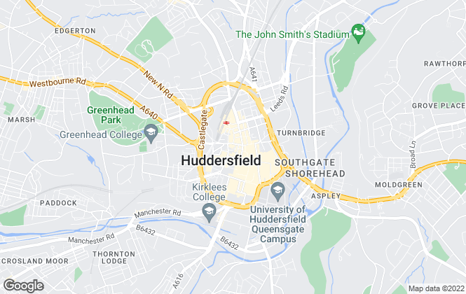 Map for easy lettings-northwest, Huddersfield