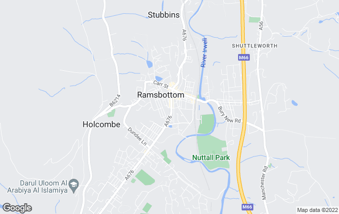 Map for Weale & Hitchen, Ramsbottom
