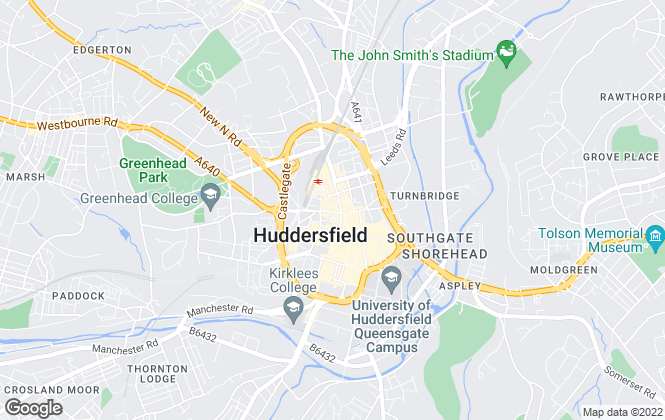Map for William H. Brown, Huddersfield