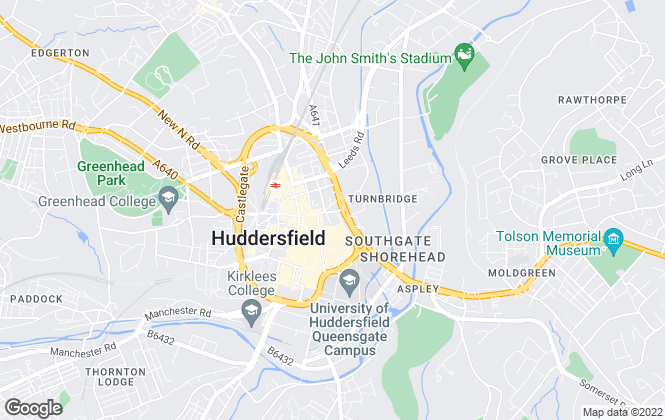 Map for Northgate Sales & Lettings, Huddersfield