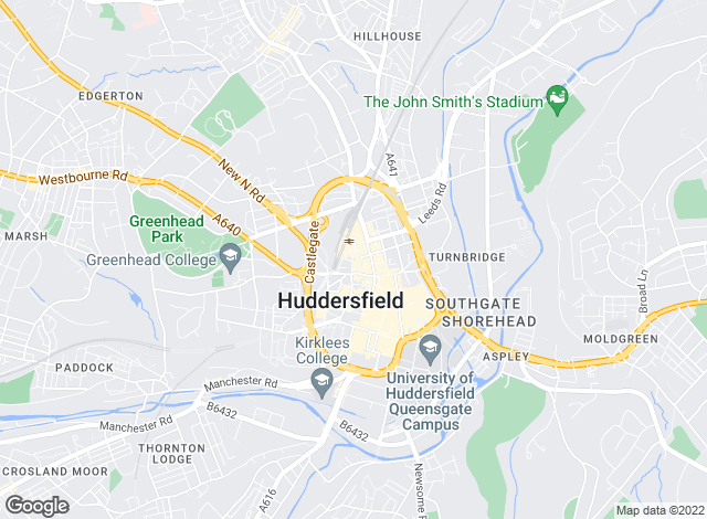 Map for Fine & Country, Huddersfield & Barnsley