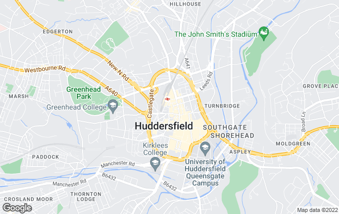 Map for Fine & Country, Huddersfield