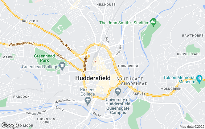 Map for Martin & Co, Huddersfield - Lettings & Sales