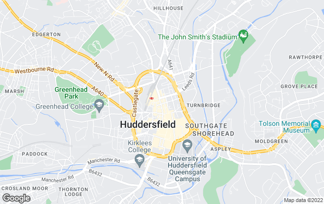 Map for Bridgfords, Huddersfield