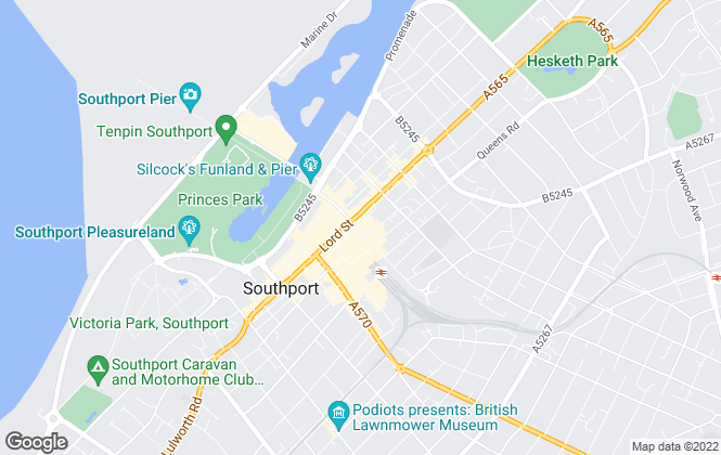Map for Ball & Percival, Southport