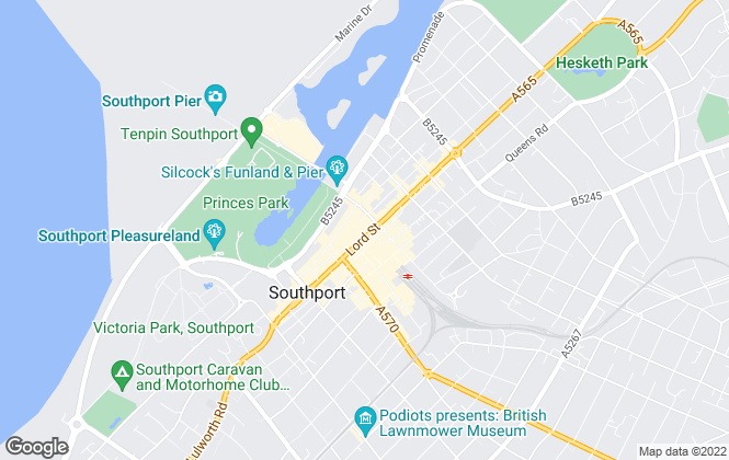 Map for Entwistle Green, Southport