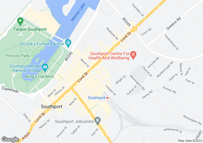 Map for Anchor Street, Southport, PR9 0UH