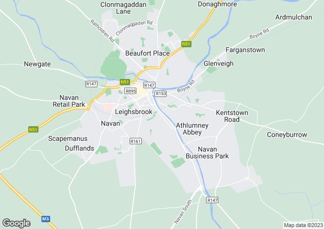 Map for Meath, Navan