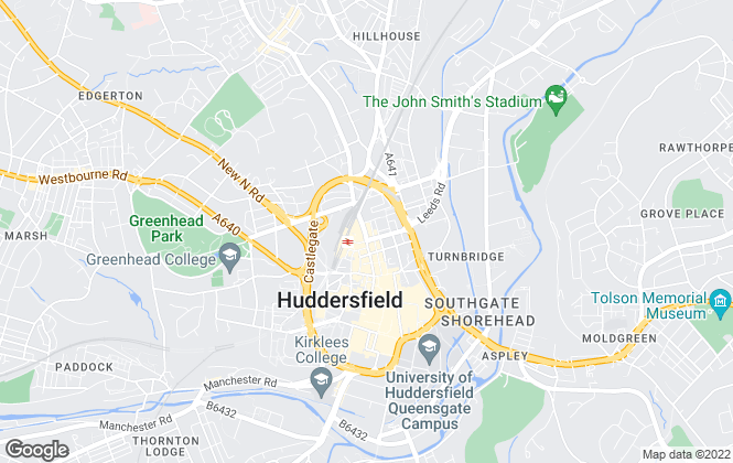 Map for Earnshaw Kay Estates, Huddersfield