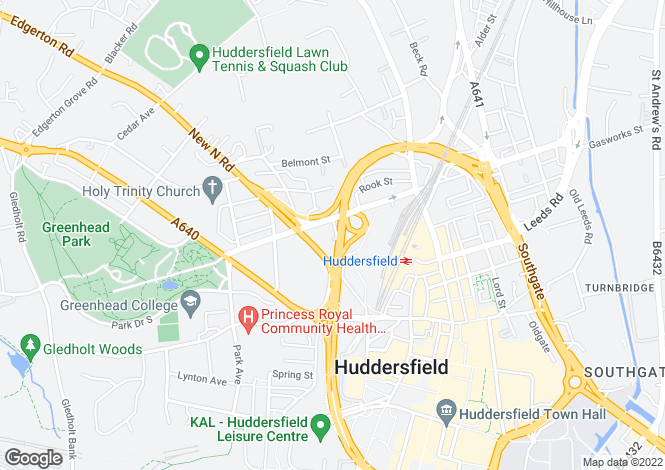 Map for Little Brunswick Street, Huddersfield, Huddersfield