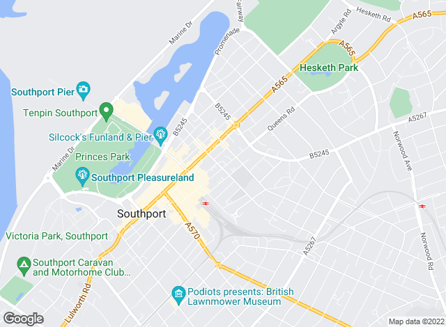 Map for Fitton Estates, Southport