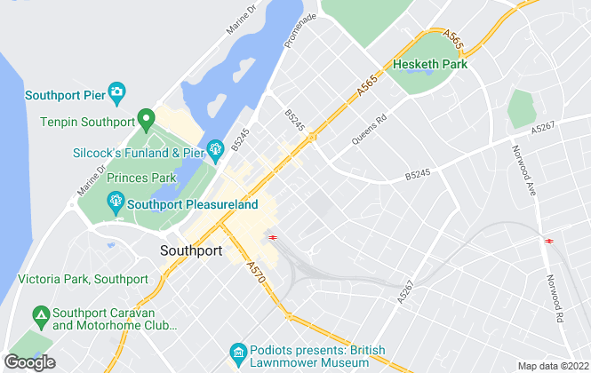 Map for Arnold & Phillips , Southport