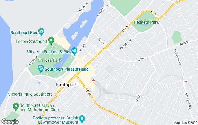 Map for Karen Potter, Southport