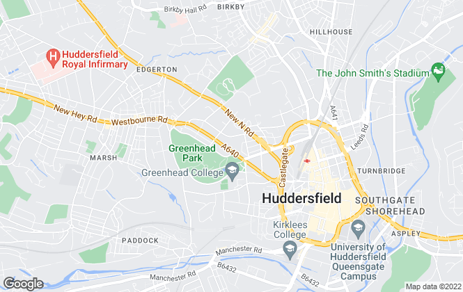Map for Jarvie Property, Huddersfield