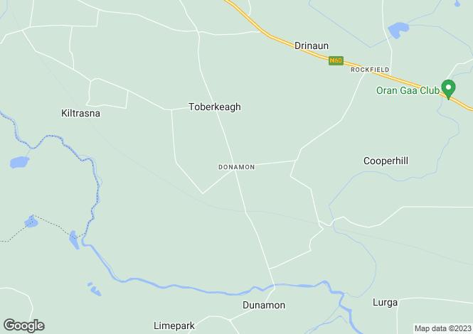 Map for Newtown, Oran, Donamon, Roscommon