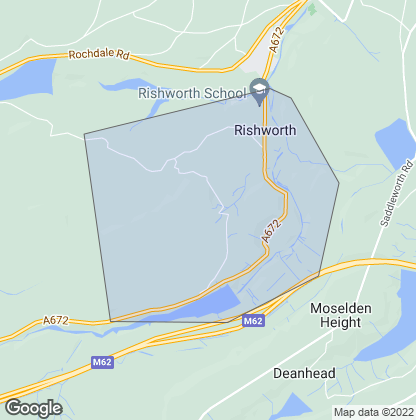Map of property in Rishworth