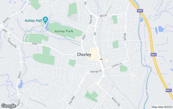 Map for Bridgfords, Chorley