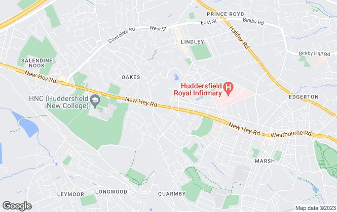 Map for Harvey & Ryall, Huddersfield