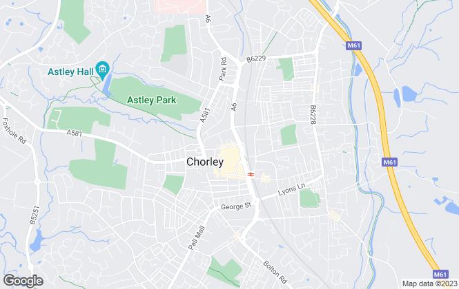 Map for Chorley Council, Chorley