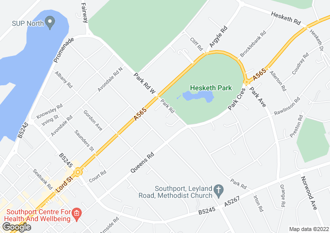 Map for Park Road, Hesketh Park, Southport, PR9 9LA