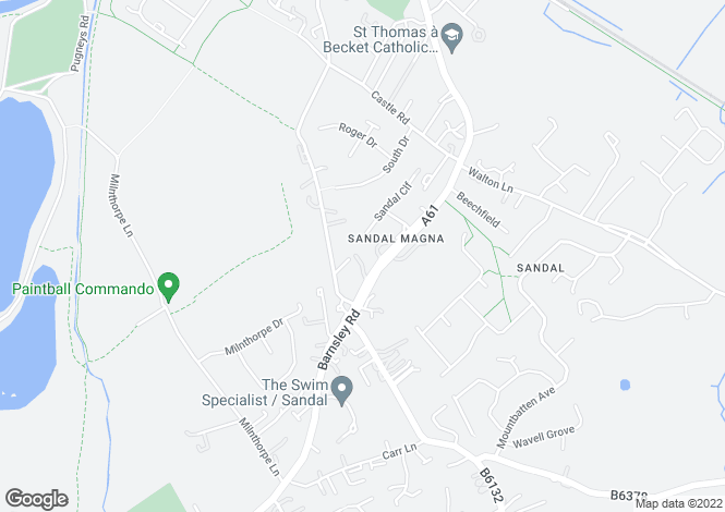 Map for Barnsley Road, Sandal, Sandal, West Yorkshire, WF2