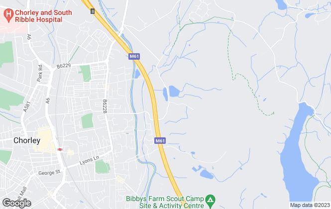 Map for Workspace Properties Ltd, Chorley