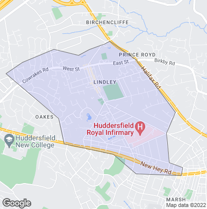 Map of property in Lindley