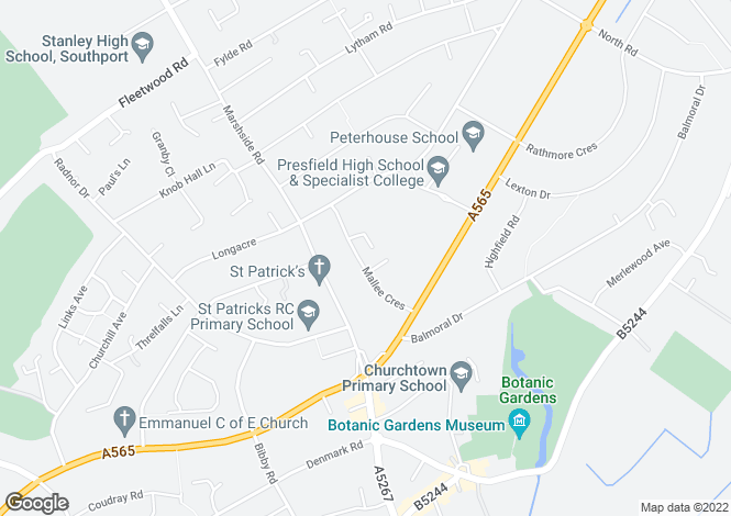 Map for Mallee Crescent,