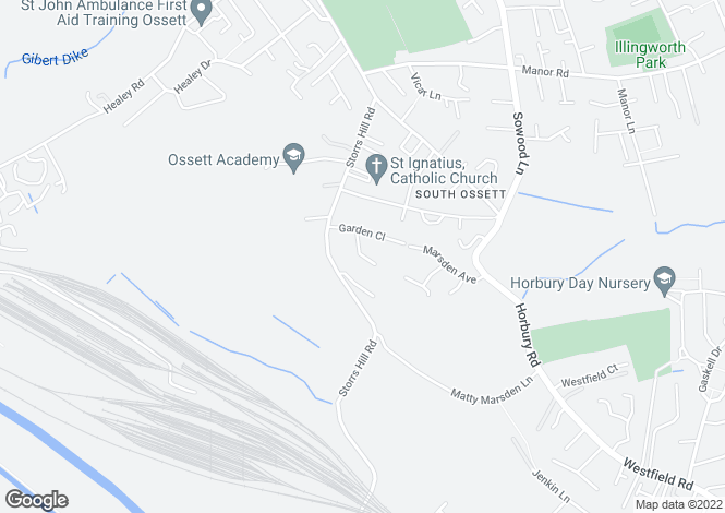 Map for Mayfield Court, Ossett, Wf5 0sg, Ossett, West Yorkshire, WF5