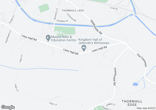 Map for 15 OLYMPIA GARDENS, THORNHILL LEEDS, DEWSBURY.