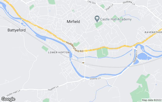Map for Town and Country, Mirfield