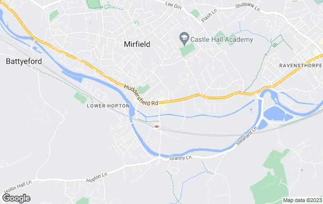 Map for Whitegates, Mirfield