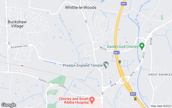 Map for Let Homes Now, Chorley
