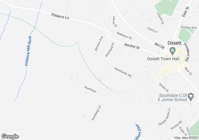 Map for The Highlands, Ossett