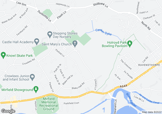 Map for 27a Church Lane, Mirfield
