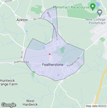 Map of property in Featherstone