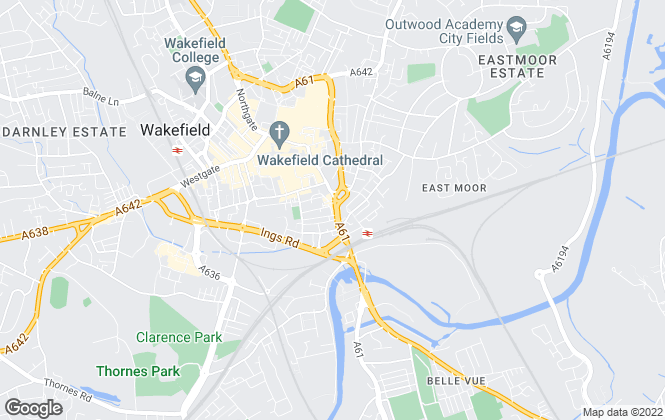 Map for Bridgfords Lettings, Wakefield