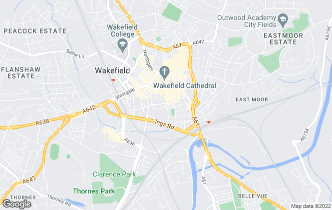 Map for Hodsons Estate Agents, Wakefield - Lettings